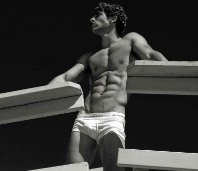 abercrombie fitch men's underwear ad white trunk