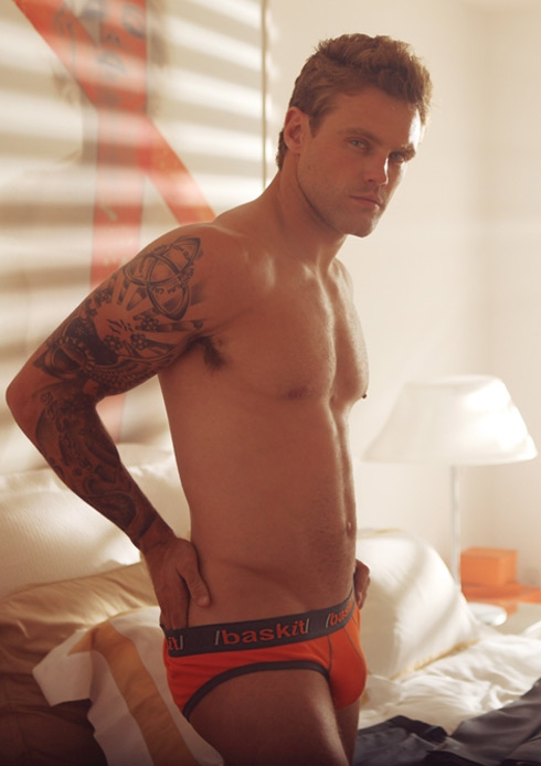 Model Nick Youngquest for Baskit Underwear ...