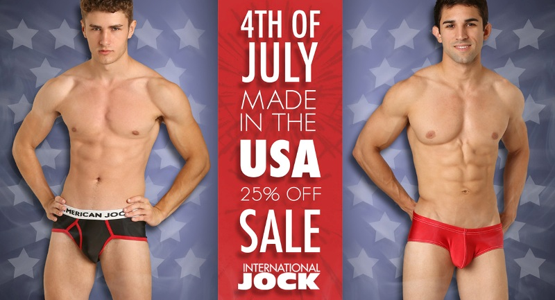 International Jock's 4th of July Made in USA Sale 1a