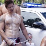 Andrew Christian Police Car Wash 003