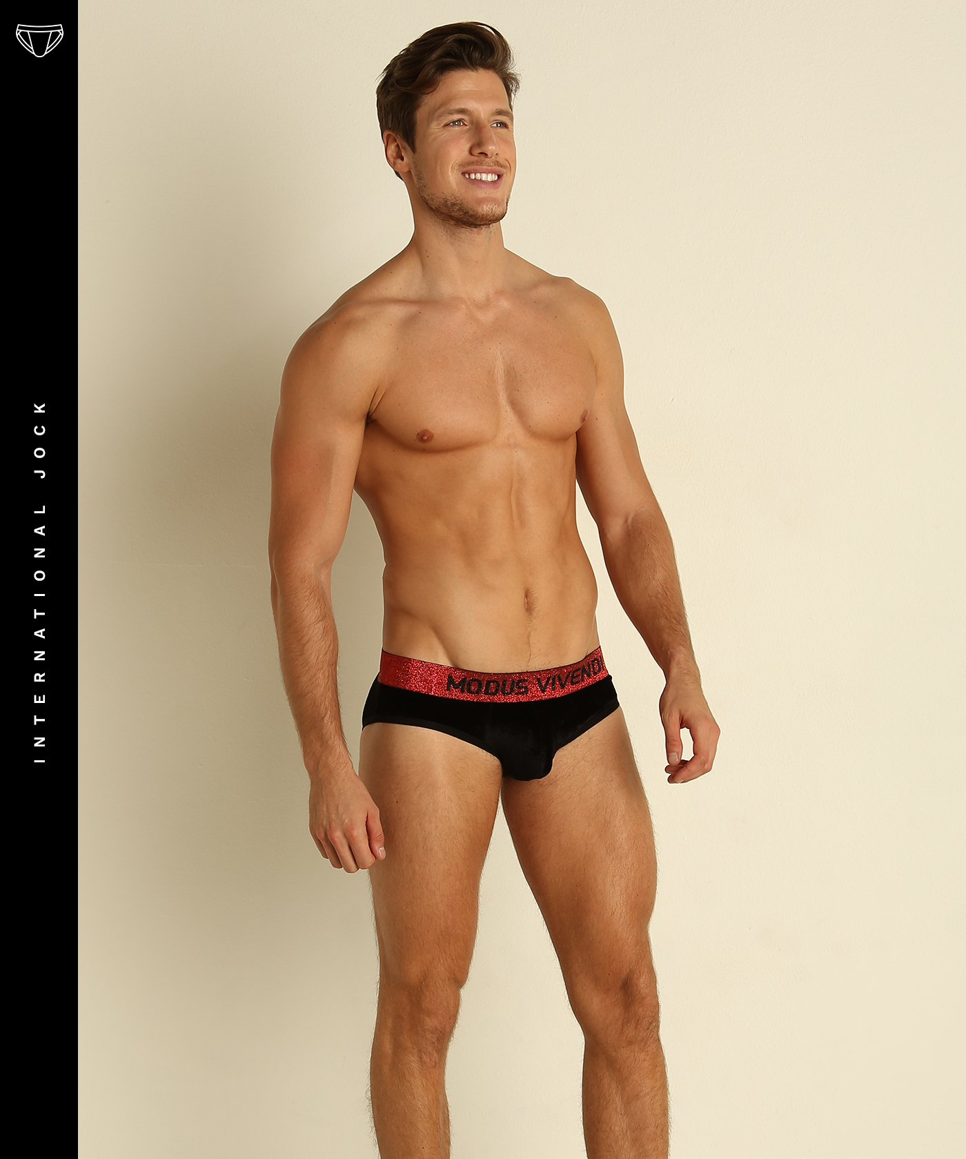 7ecacb45 This Modus Vivendi brief is made of soft and plush velvet micromodal fabric  for an unbelievably comfortable wearing experience. The glittery waistband  adds ...